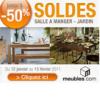 MEUBLES : Soldes jusqu'à 50% de réduction