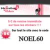 DECORATION STICKERS : 5 euros de réduction + 10% supplémentaire sur les nouveautés stickers