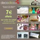 DECOCLICO : 7 euros offerts pour votre première commande