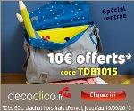 DECOCLICO : Code promo de 10 euros spécial rentrée