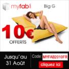 MYFAB : 10 euros offerts sur tout le site