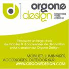 ORGONE DESIGN : 10 euros de réduction dès 100 euros d'achat