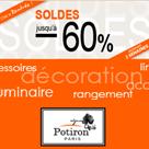 POTIRON : Soldes déco de septembre jusqu'à 60% de réduction