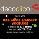 DECOCLICO : 12 euros offerts sur la sélection d'idées cadeaux décalées