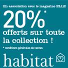 HABITAT : 20% de réduction sur toute la collection