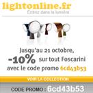 LIGHTONLINE : 10% de réduction  sur les produits Foscarini