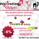 DECORATION STICKERS : Promotion spéciale Noël avec 8% de réduction