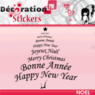 DECORATION STICKERS : Un stickers sapin rouge offert