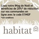HABITAT : 20% de réduction pour Noël