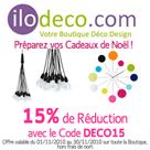 ILODECO : 15% de réduction sur tous les produits déco