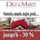 DECO ET MAISON : Jusqu'à 30% de réduction sur les canapés et fauteuils