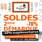 POTIRON : Soldes jusqu'à 70% de remise et encore 10% de plus