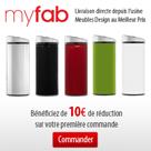 MYFAB : 10 euros de réduction sur votre 1ère commande